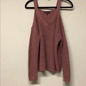 Kendall and Kylie shoulder cut-out sweater